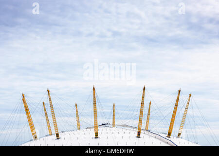 Detail of the roof of the O2 Arena on the Greenwich Peninsula. - Stock Image