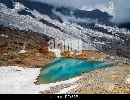 Fee Glacier lake - Stock Image