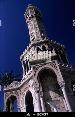 Saat Kulesi (clocktower) Konak Meydani Izmir - Stock Image