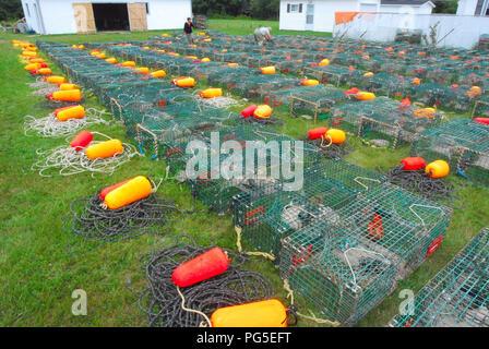 Lobster trap,  Shediac New Brunswick Canada - Stock Image