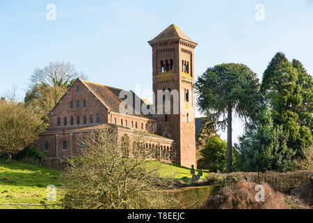 St. Catherine  church, the original chapel was built in 1840 and made from brick, it was completely encased in local sandstone in 1870. hereford Engla - Stock Image