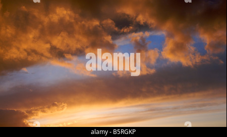 Colourful sunset. Red clouds. Skyscape - Stock Image