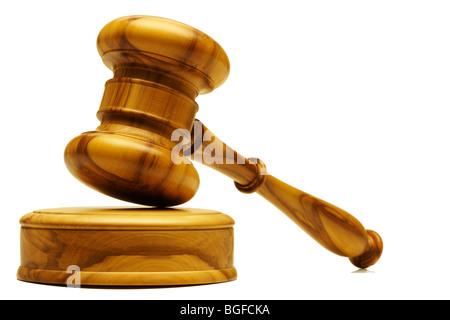 Wooden Gavel - Stock Image