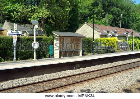Avoncliff - railway station halt near Bradford-on-Avon, in Wiltshire, UK. - Stock Image