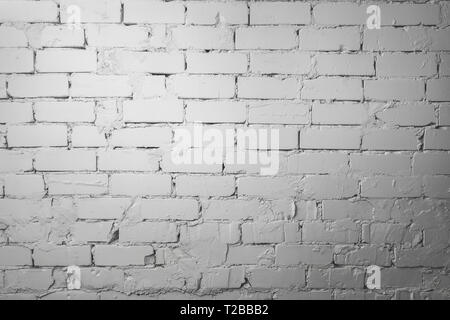 white brick wall - Stock Image