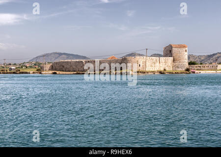 Castle from Butrint National Park Archelogical site Albania - Stock Image