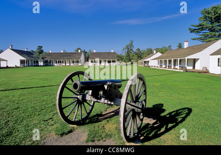 Fort Wilkins State Park, a historic US Army Post at Copper Harbor, Keweenaw Peninsula, Michigan, AGPix_0640 - Stock Image