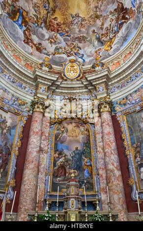 Interior of Church of St Blaise (St Blasius); Dubrovnik, Croatia - Stock Image