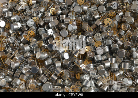 2N4031 transistors : TO-39 can package - Stock Image