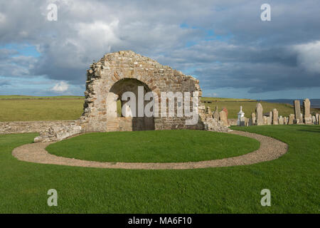 Earl's Bu and Church, Orphir, Orkney - Stock Image