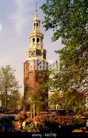 Amsterdam Oude Schans Motelbaan Tower - Stock Image