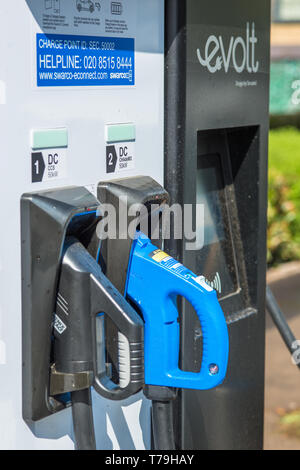 Electric car Evolt charge point in Cambridge, England, UK. - Stock Image