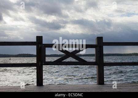 fence at the sea - Stock Image
