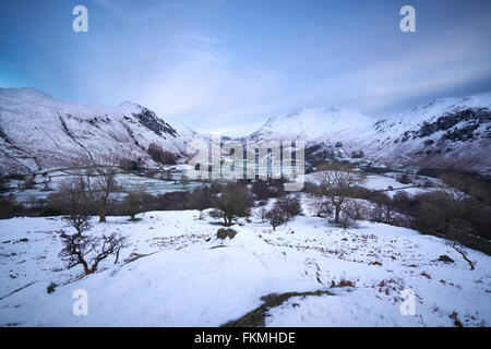 Looking down towards Deepdale and Patterdale from Hartsop Above How in the English Lake District. - Stock Image