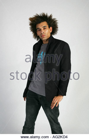 gay male fashion shot - Stock Image