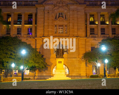 Statue Outside Treasury Casino In Brisbane - Stock Image