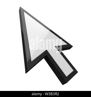 white simple cursor. suitable for internet, computer and technology themes. 3d illustration - Stock Image
