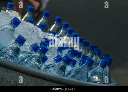 Ice Cold Water in a Tub - Stock Image
