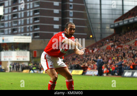 Footballer Paolo Di Canio Charlton Athletic v Wolverhampton Wanderers 10 January 2004 - Stock Image