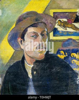Paul Gauguin (1848-1903), Self portrait with hat, c. 1893 - Stock Image