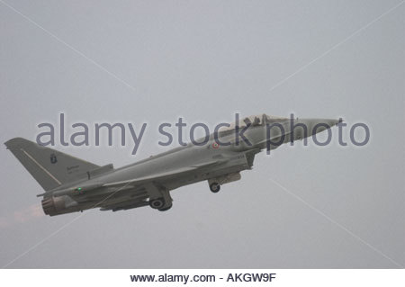 Typhoon EFA RSV Eurofighter Italian Air Force Rivolto Italia Air show 2005 - Stock Image
