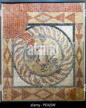 Roman Mosaic,Roman,Canterbury,Roman,Museum,Butchery Lane,Canterbury,Kent,England,UK Found under 51 Burgate in 1868 - Stock Image