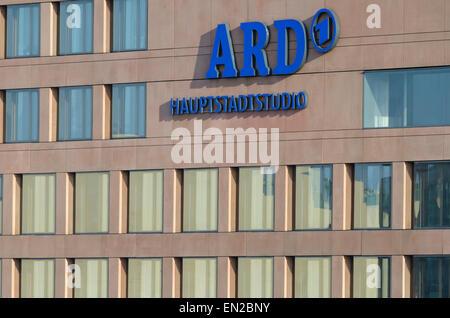 ARD (public radio and TV) Hauptstadtstudio in the government district. - Stock Image