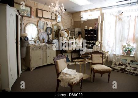 Antique shop interior - Stock Image
