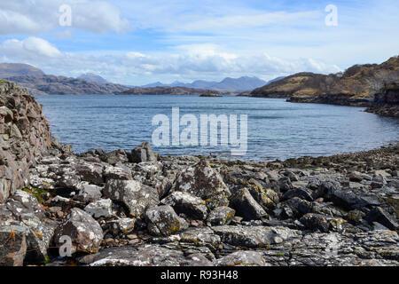 Loch Torridon, Applecross Peninsula, Wester Ross, Highland Region, Scotland - Stock Image
