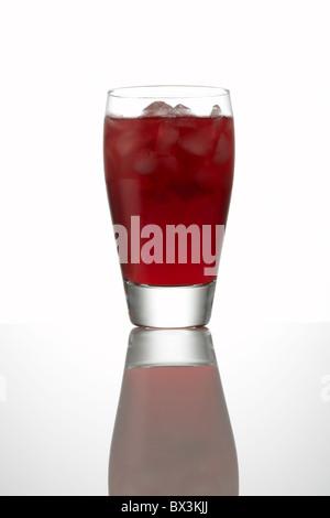Pomegranate Juice with Ice - Stock Image