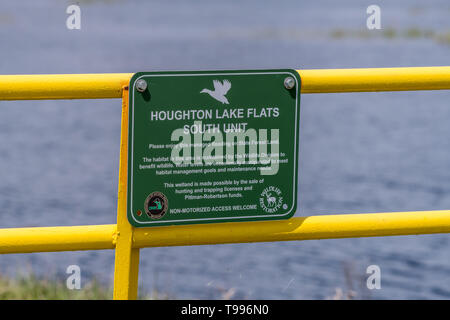 Houghton Lake Flats South Unit (managed flooding area for wildlife) in Michigan, USA. - Stock Image
