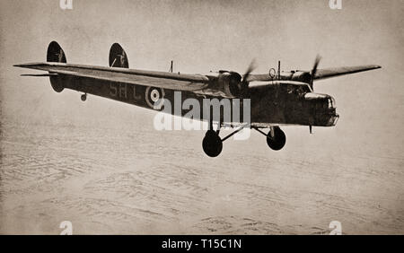 The Bristol Bombay was a British troop transport aircraft adaptable for use as a medium bomber flown by the Royal Air Force during the Second World War.  It saw early service ferrying supplies to the British Expeditionary Force in France in 1940, but the Bombay's main service was in the Middle East, when they  were used as night bombers, as transport aircraft and ferried supplies and evacuated the wounded personnel. - Stock Image