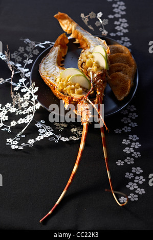 Roasted Spiny Lobster - Stock Image