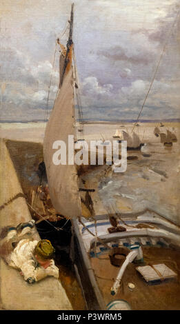 Low Tide at Cancale Harbor, John Singer Sargent, 1878, Museum of Fine Arts, Boston, Mass, USA, North America - Stock Image