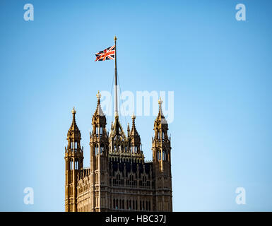 Victoria Tower, part of the Palace of Westminster, used as an archive and library - Stock Image