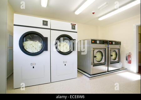professional laundry equipment - Stock Image