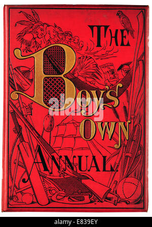 Front cove The Boy's own Annual 1885 - Stock Image