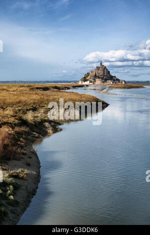 Mont saint Michel in Normandy, France - Stock Image