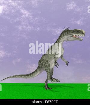 Dinosaurier Monolophosaurus / dinosaur Monolophosaurus - Stock Image