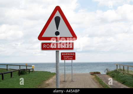 Road end - Stock Image