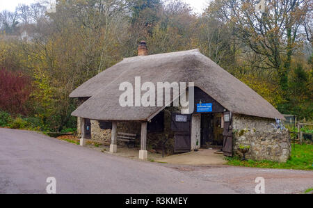 The old forge at Branscpmbe village in East Devon UK - Stock Image