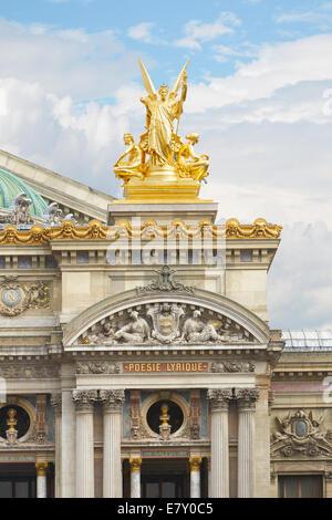 The Opera Garnier golden statue in Paris - Stock Image