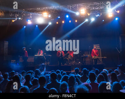 Everything Everything playing live on stage - Stock Image
