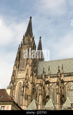 Europe, Czech Republic, Prague. Side of St. Vitus Cathedral. Credit as: Wendy Kaveney / Jaynes Gallery / DanitaDelimont.com - Stock Image