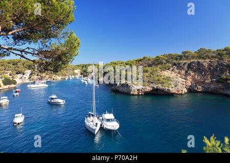 Spain, Balearic Islands, Mallorca, Cala Figuera Beach - Stock Image