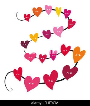 Togetherness, hearts on a string - Stock Image