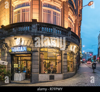 Hotel Aliados, Restaurant, Cafe Guarany , Porto, Portugal - Stock Image