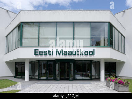 Main entrance of the Estonian University of Life Sciences. Tartu 28th June 2017 - Stock Image