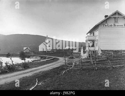 Oppheim kyrkje Lindahl - Stock Image