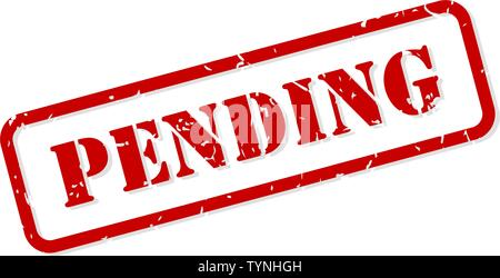 Pending red rubber stamp vector isolated - Stock Image